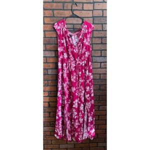 Beautiful pink flowery maxi dress
